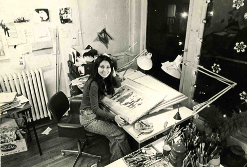 Yoko Mitsuhashi in her New York studio.
